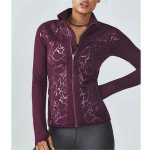 Fabletics Burgundy Rose JoJo Jacket Small